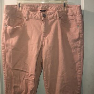 Pink American eagle Skinny jeans